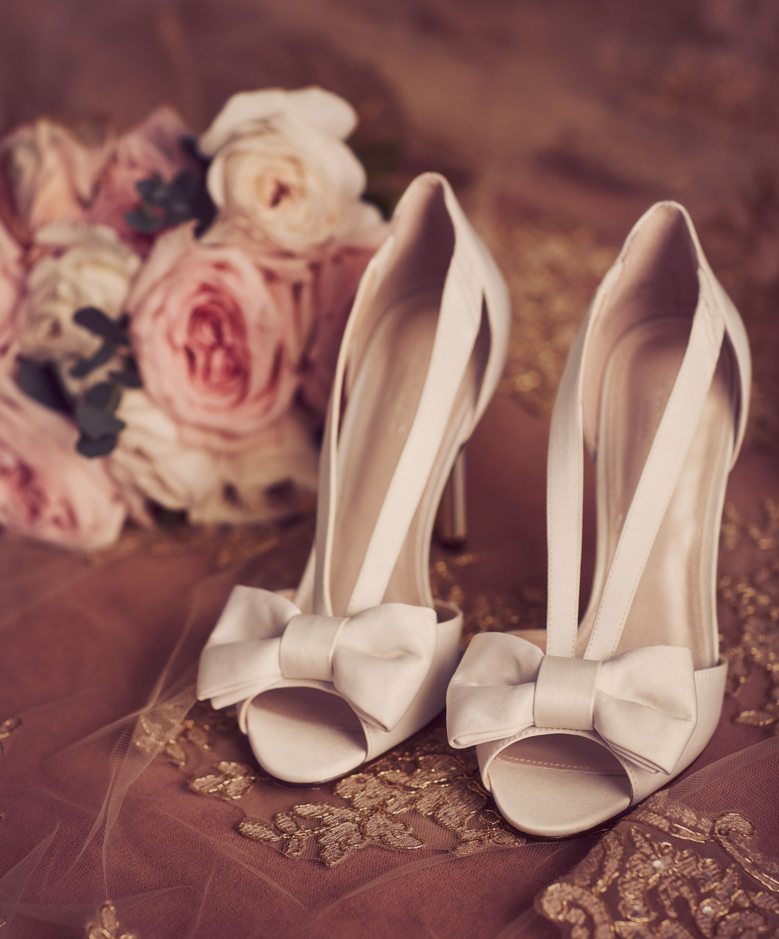 Two Piece Strappy Bow Pumps David S Bridal Wedding Shoes Wedding Heels Cowgirl Boots Wedding
