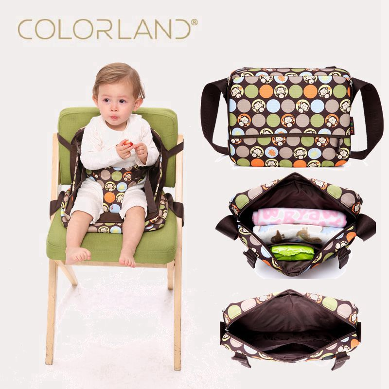Colorland Portable Baby Booster Seats Safety Chair Seat Mama 2 In 1 Maternity Diaper Dag Travel High Dinner Mummy Bag