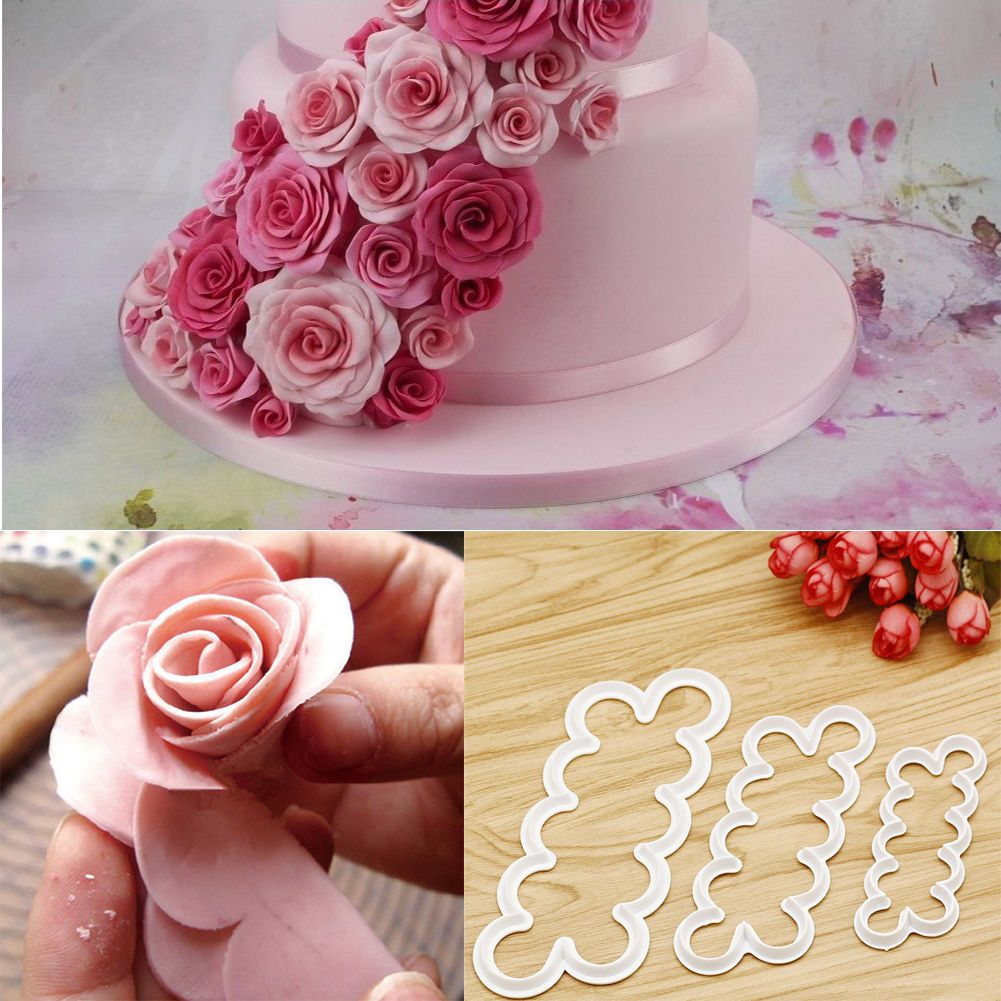 3d Rose Flower Fondant Cake Chocolate Sugarcraft Mould Mold Decorating Tool 7598832612698 Ebay Cake Decorating Moulds Fondant Cake