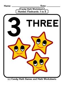 penny candy math worksheets flashcards 1 to 5 03 kids pinterest math worksheets. Black Bedroom Furniture Sets. Home Design Ideas