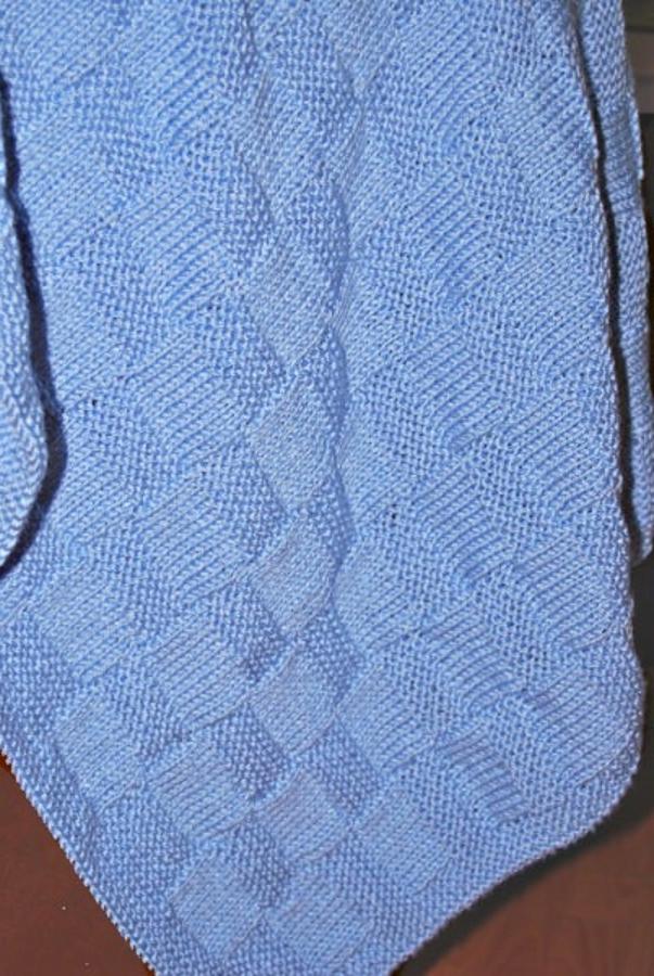 Garter Stitch Check Baby Blanket Knitting Pattern | Free ...