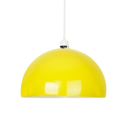 Tesco direct curva dome ceiling pendant light shade in gloss yellow