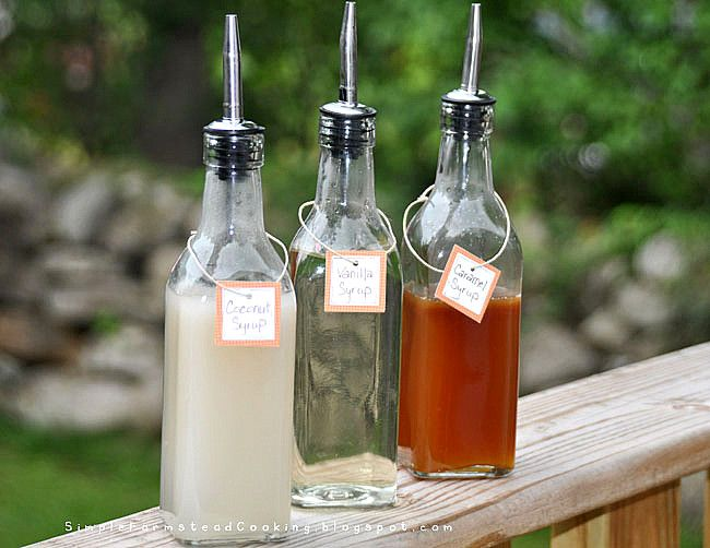 Simple Farmstead Cooking: Homemade Coffee Syrup