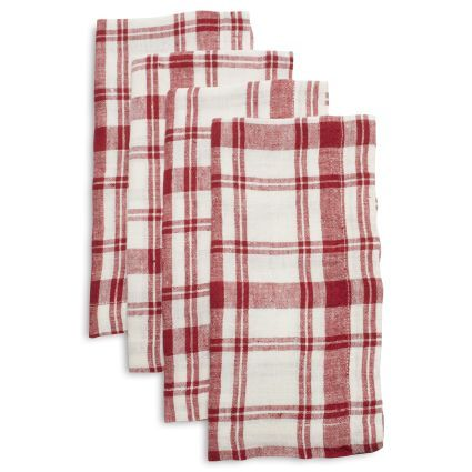 Checkered Linen Napkins Set Of 4 Sur La Table