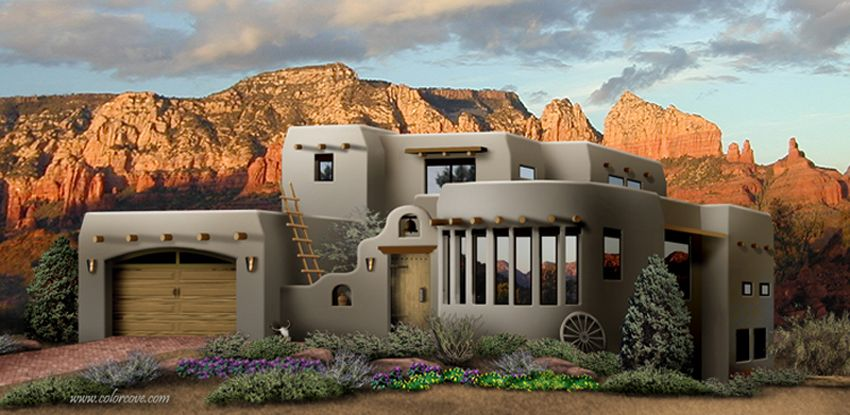 Southwestern style home plans home design and style for Southwestern style home designs