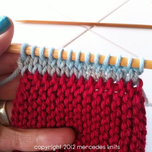 How To Do Garter Stitch Invisible Join How Tos With Photos