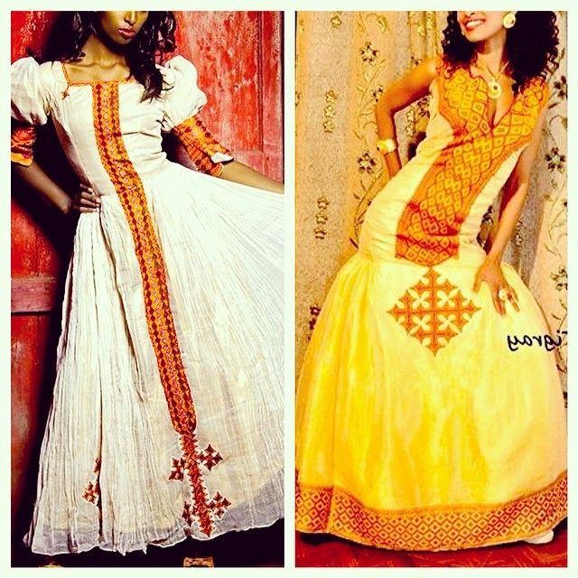 Habesha clothing design for wedding habeshakidan for Habesha dress for wedding