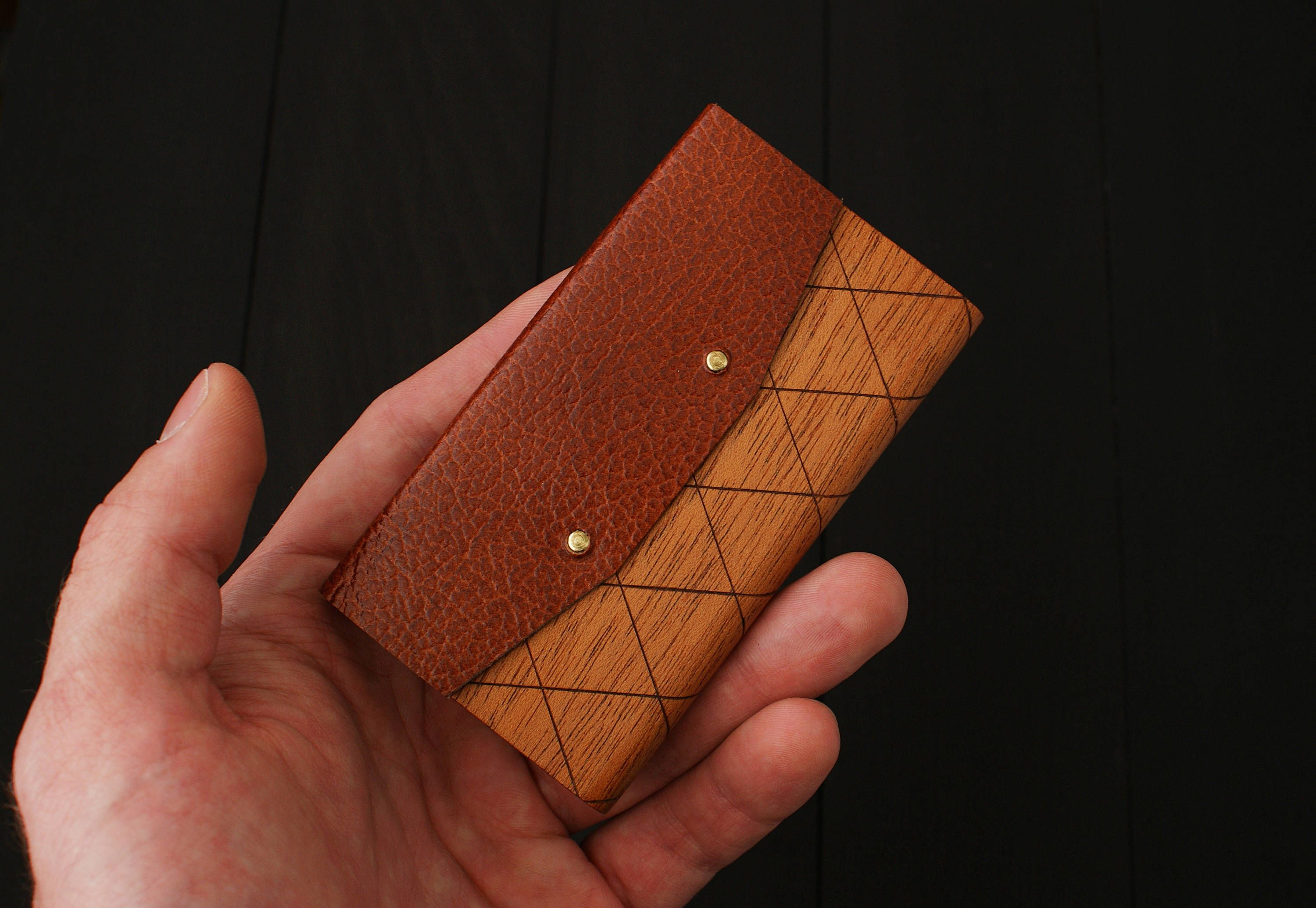 Business card holder, business card case, wood business card holder ...