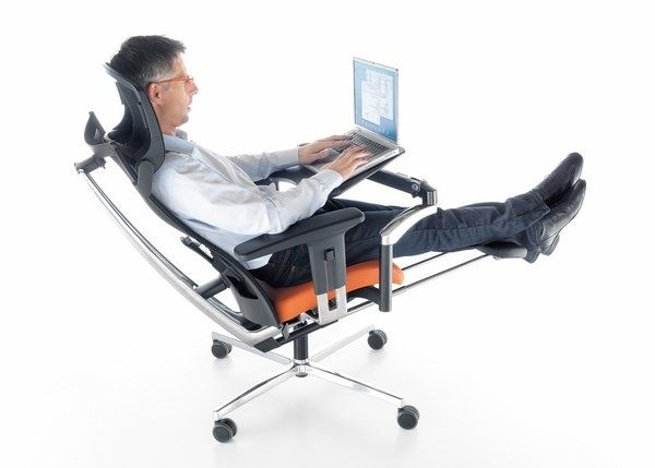 Ergonomic Home Furniture modern office ergonomic chair with headrest and footrest home
