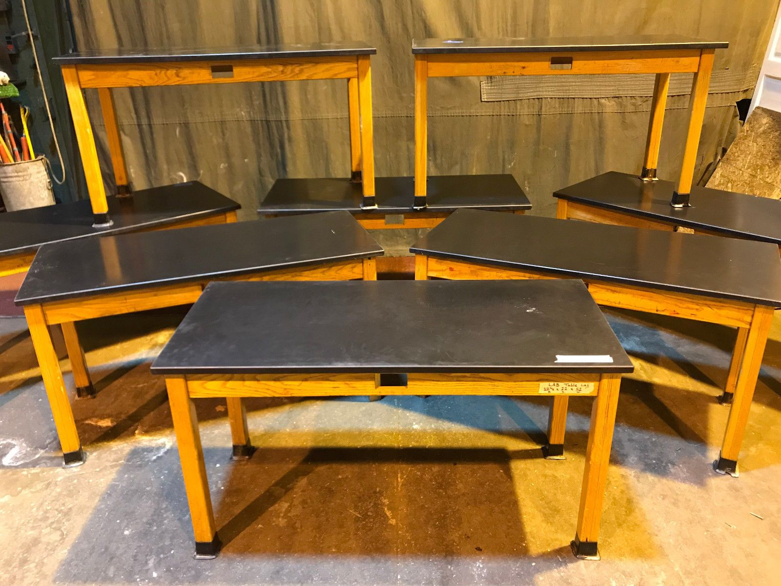 Lot Of 6 Vintage Science Lab Tables Desk Cast Resin Counter Top Ebay Table Desk Countertops Table