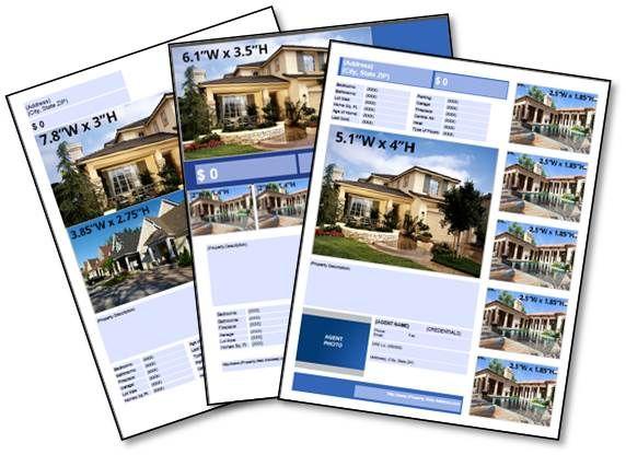 Free Real Estate Download Listing Flyer Templates Pinterest
