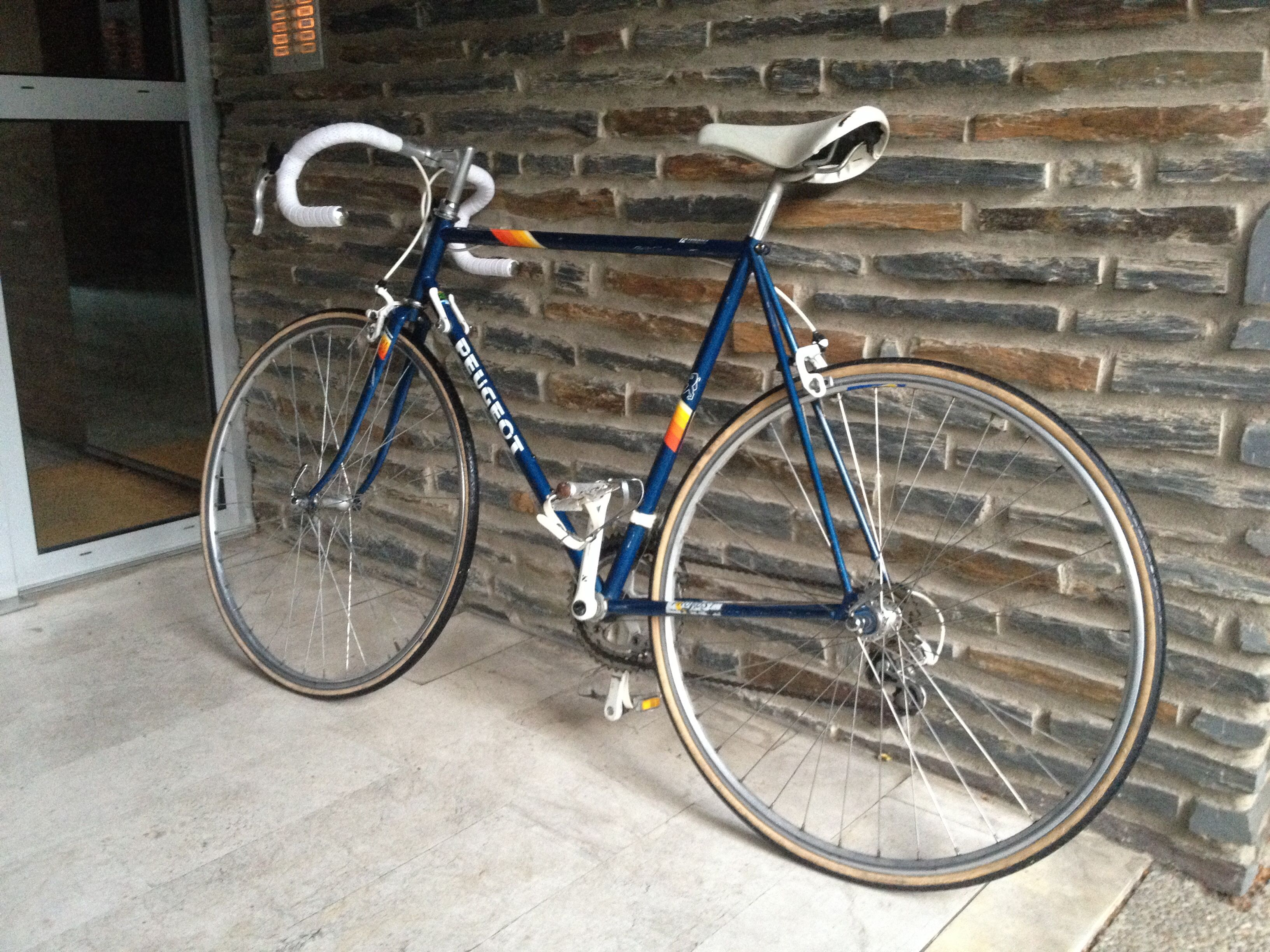 My new bike : original Peugeot Mont-Blanc  With gears but I'm