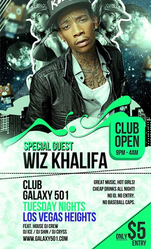 Hip Hop Club Free Flyer Template - http\/\/freepsdflyer\/hip-hop - free open house flyers