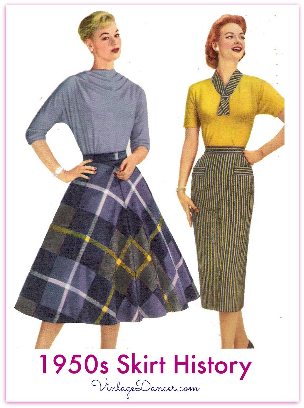 1950s Skirt Styles History | 1950s fashion | Skirt fashion ...