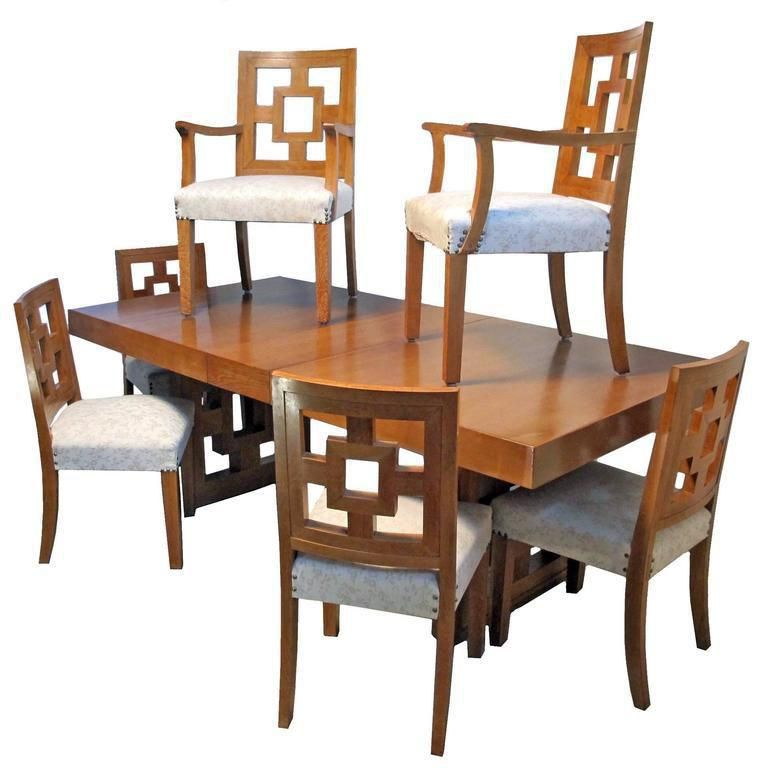 Mid Century Modernist Teak Dining Set Dining Table Teak Dining Table Handmade Dining Table