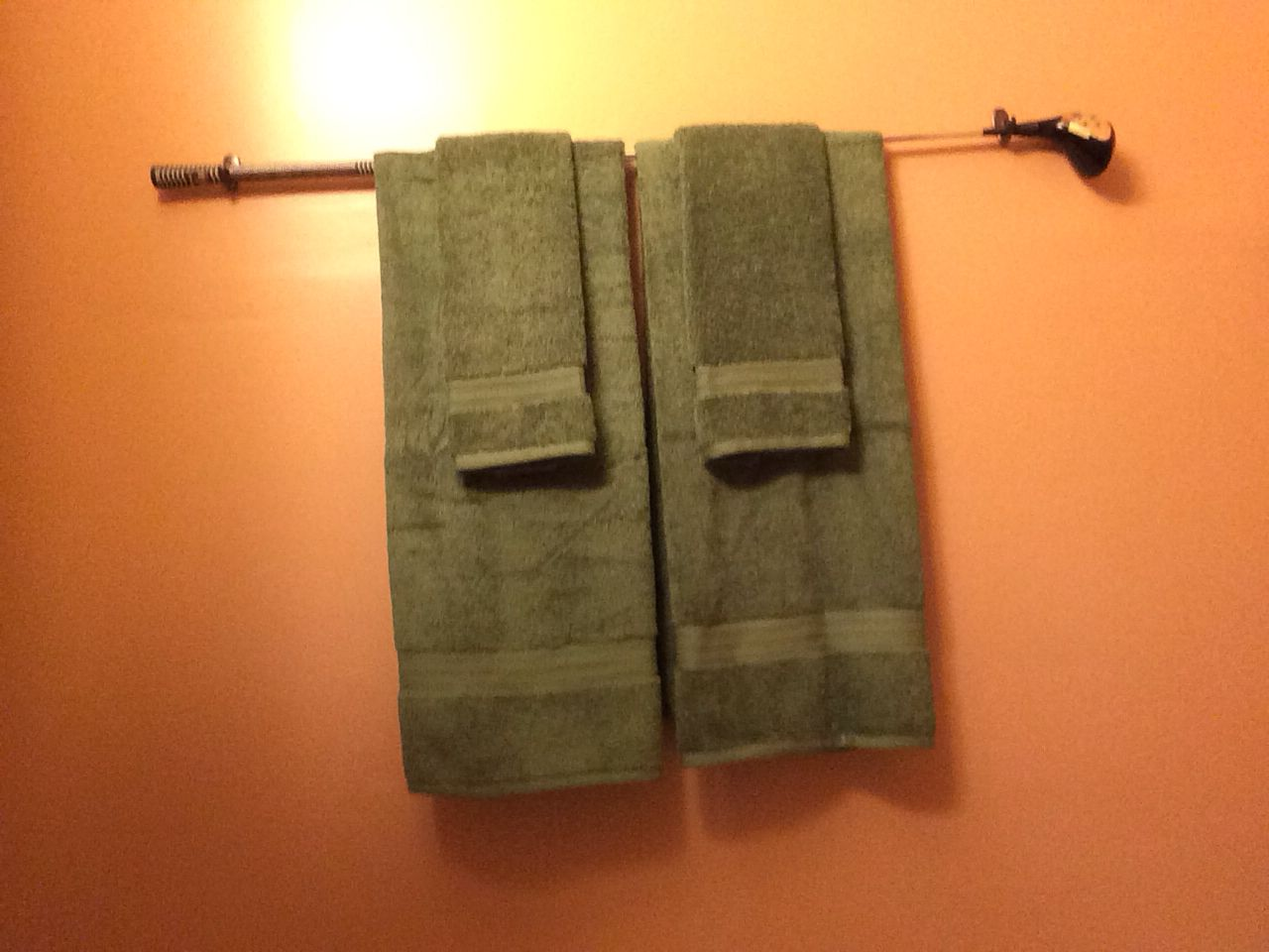 for those that have a golf theme bathroom an yes it s original golf towel rack repurpose golf clubs