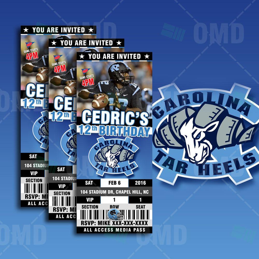 North Carolina Tar Heels Basketball Sports Ticket Style