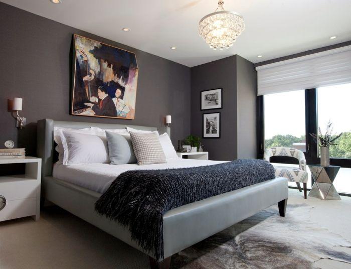 Hochwertig Manche Von Den Schlafzimmer Grau Beispielen Veranschaulichen,  Dass Graue Wände Dramatik Ausstrahlen. Besonders