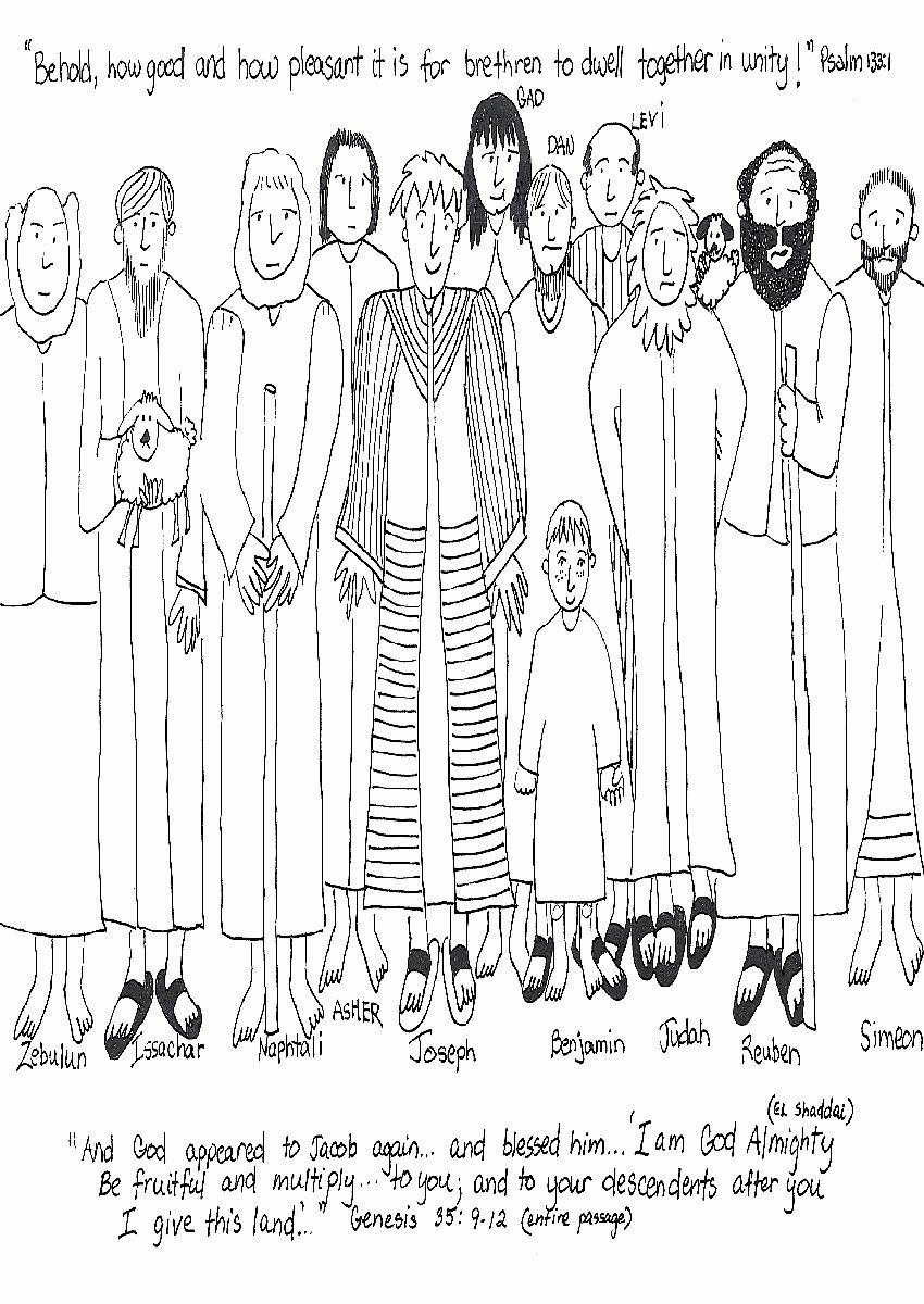 Joseph and His Brothers Coloring Page Best Of Joseph and