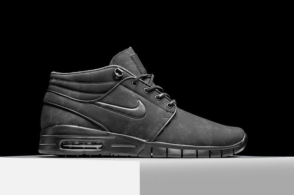 Nike SB Stefan Janoski Max Mid Chaussures Black/Anthracite NPlBJ1
