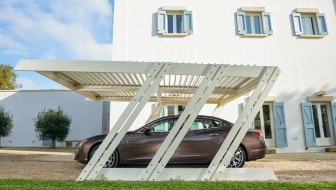 Carport Design Trend Ideen Holz Gestaltung weiß | Wrought iron ...