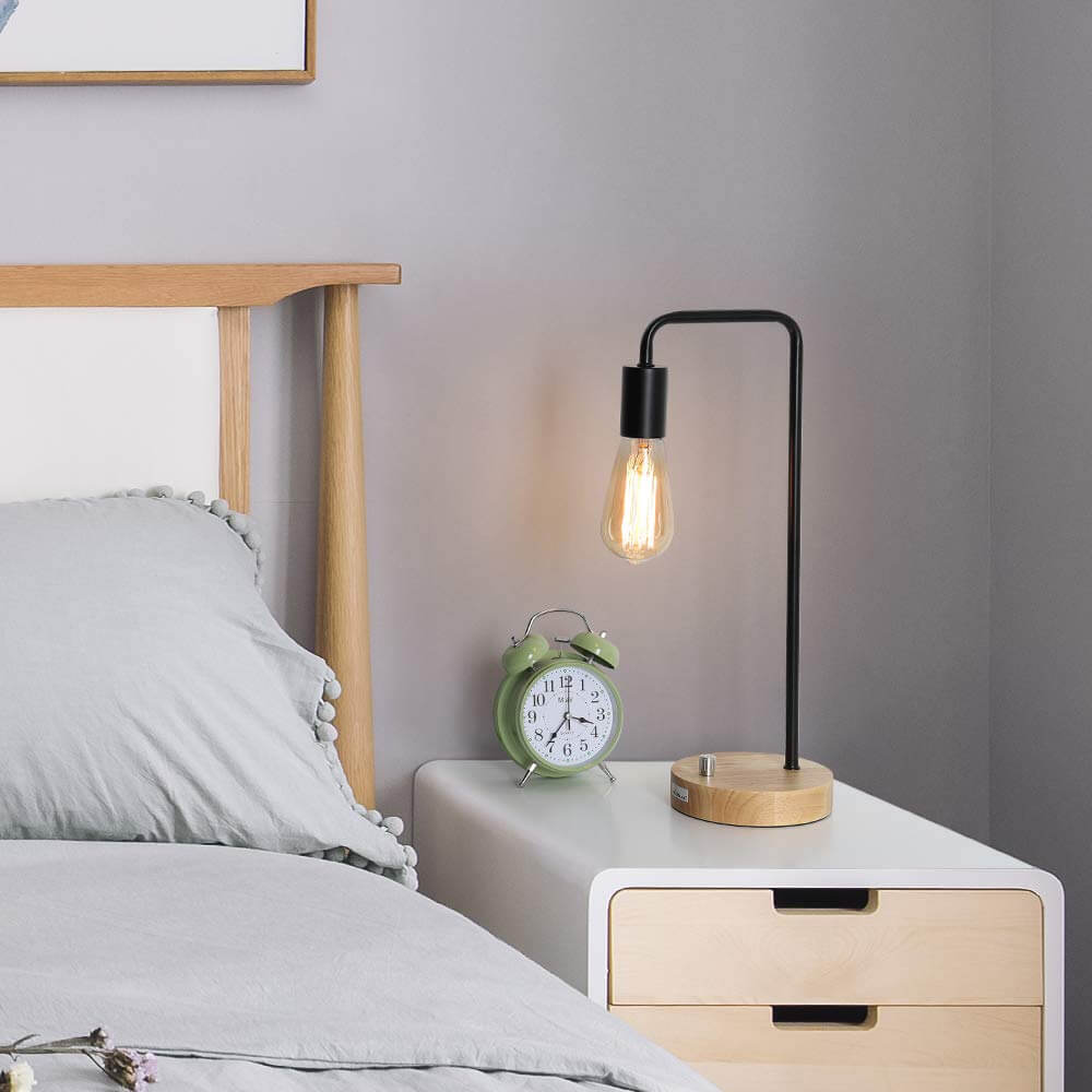 The 25 Best Bedside Table Lamps To Light Up Your Evenings In 2020 Bedside Table Lamps Simple Nightstand Wooden Table Lamps