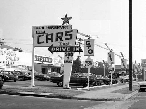 Used Cars Greenville Sc >> 1960s-1970s era Muscle Car Dealership. | Cars | Pinterest ...