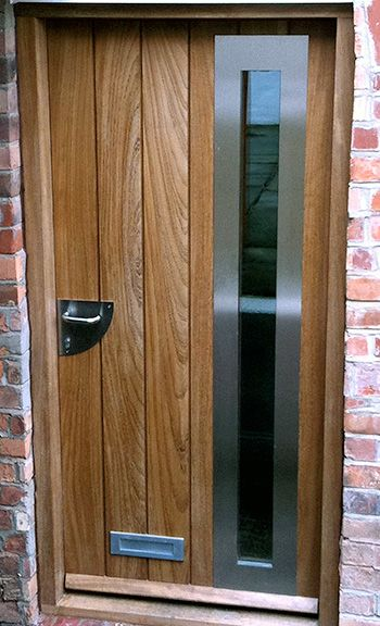 Contemporary Door With Vertical Boards Amp Glazing In 2019