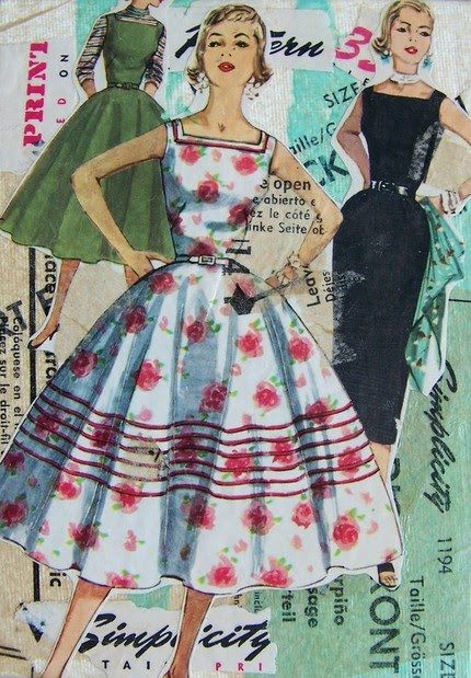 Altered Art Projects With Vintage Sewing Patterns Here is another ...