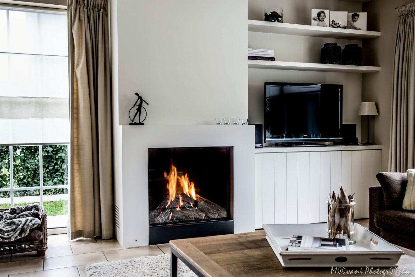 Gashaard cosyflame afgewerkt in landelijke stijl haarden pinterest - Deco stijl chalet ...