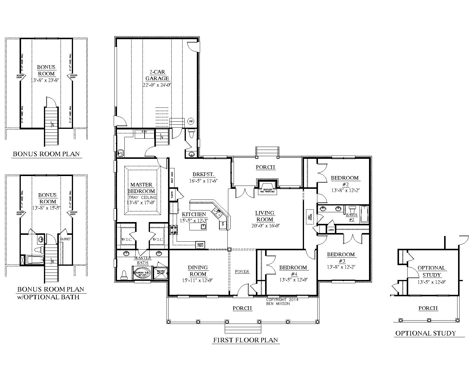House Plan 2428 B The Springfield B Floor Plan Beautiful