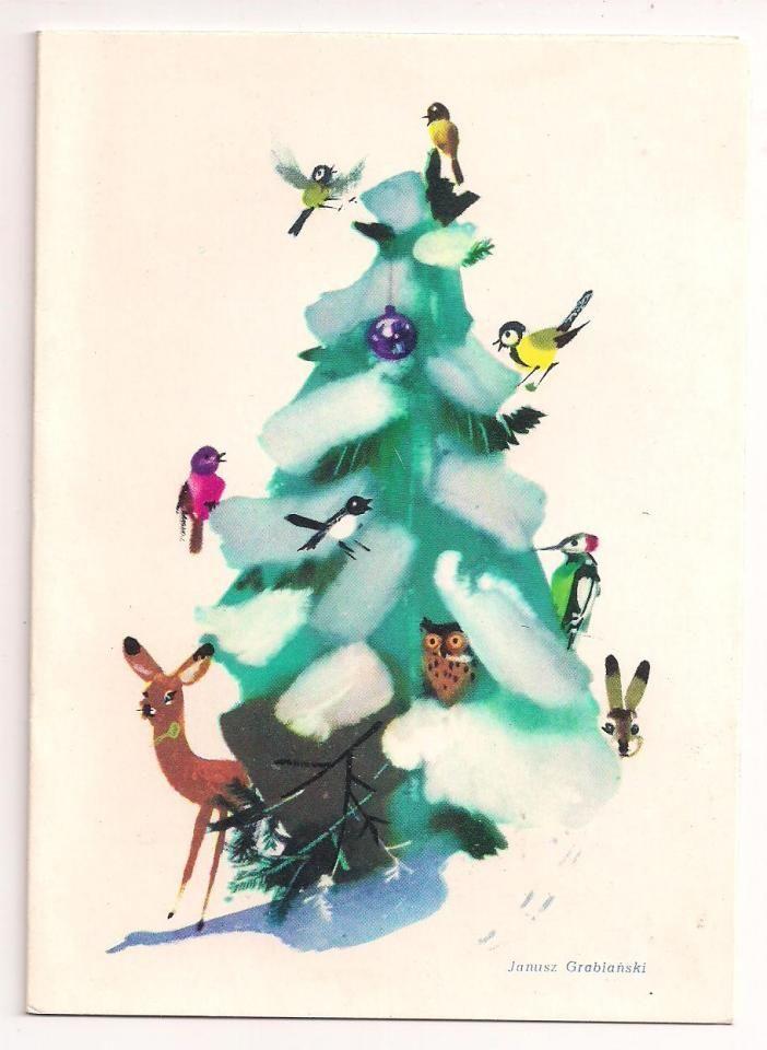 Christmas postcard by Janusz Grabiański http://pstrobazar.blogspot.com/