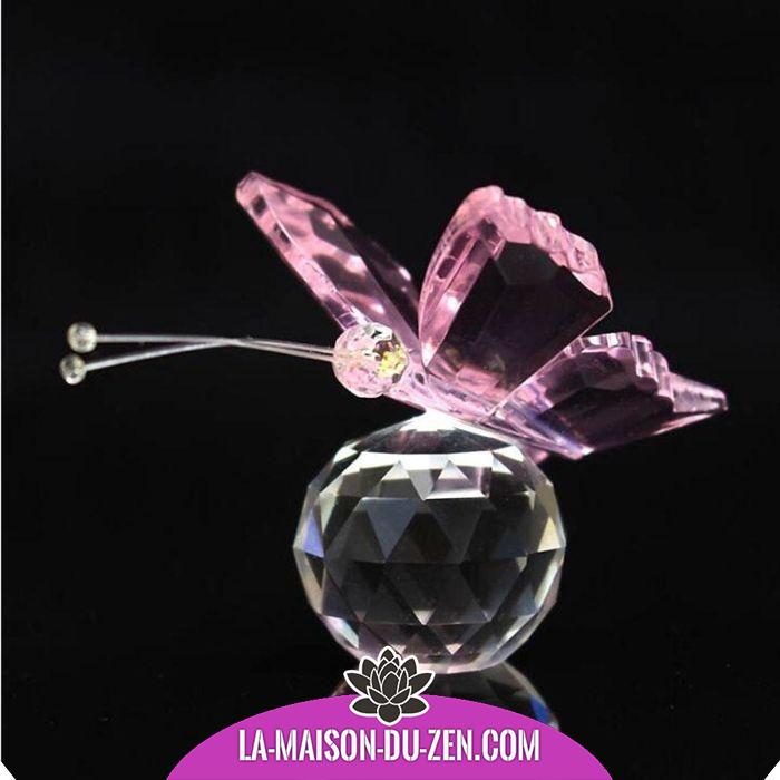 Objet Feng Shui magnifique papillon féérique en cristal - 6 modèles disponibles