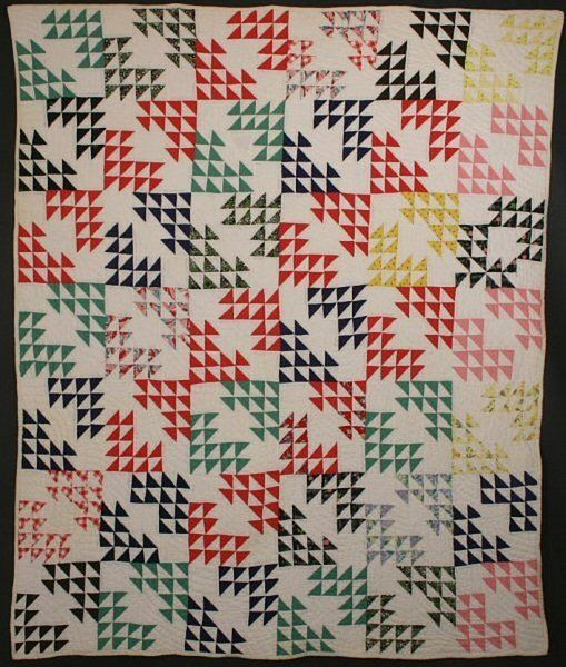 African American Birds in the Air Quilt: Ca. 1930