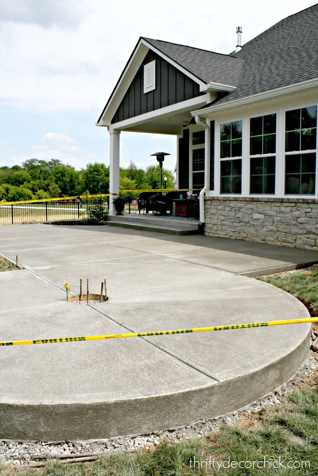 Our concrete patio is (mostly) done! (With images ...