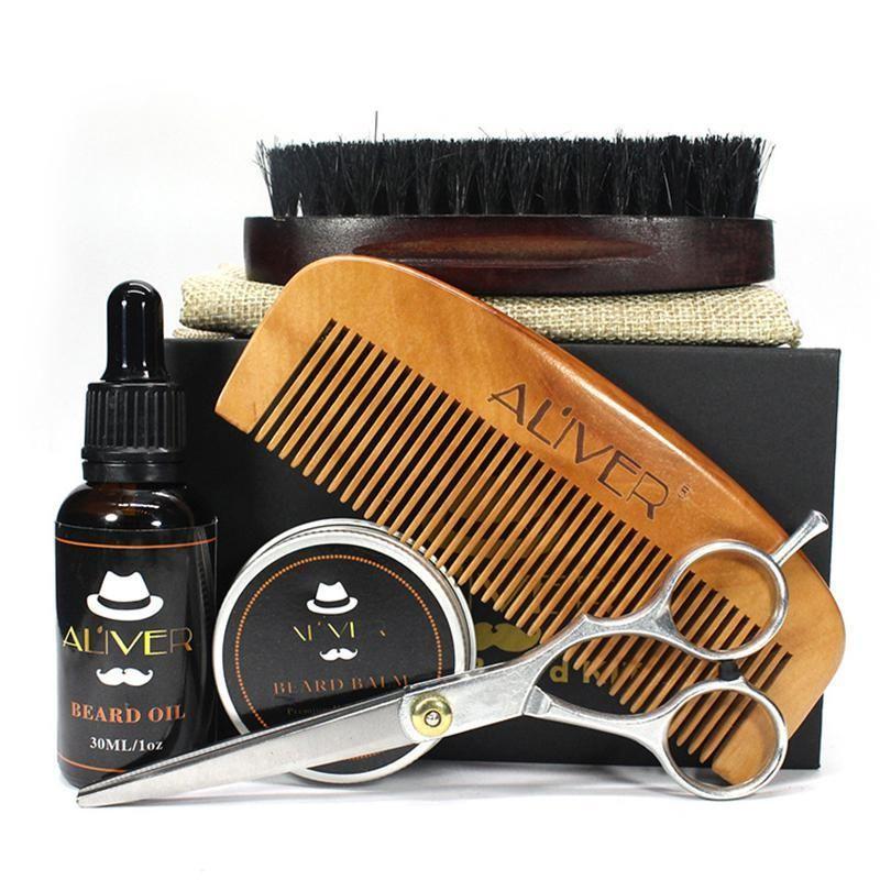 مجموعة زيت اللحية لـ تطويل الشنب و تكثيف اللحية حل مشكلة الـ لحية خفيفة او الشنب الخفيف Beard Care Kit Beard Grooming Kits Beard Care