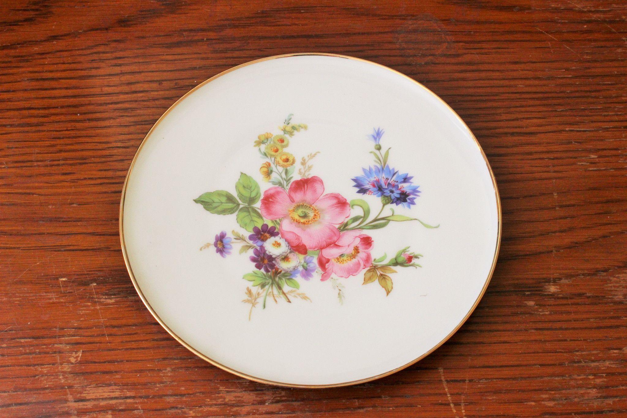 Vintage China Plate J K Decor Carlsbad Bavaria Toadstool Farm