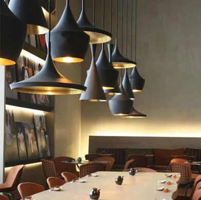 New design england tom dixon beat musical instrument hanging pendant light restaurant bar and living room
