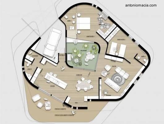 planos de casas organicas