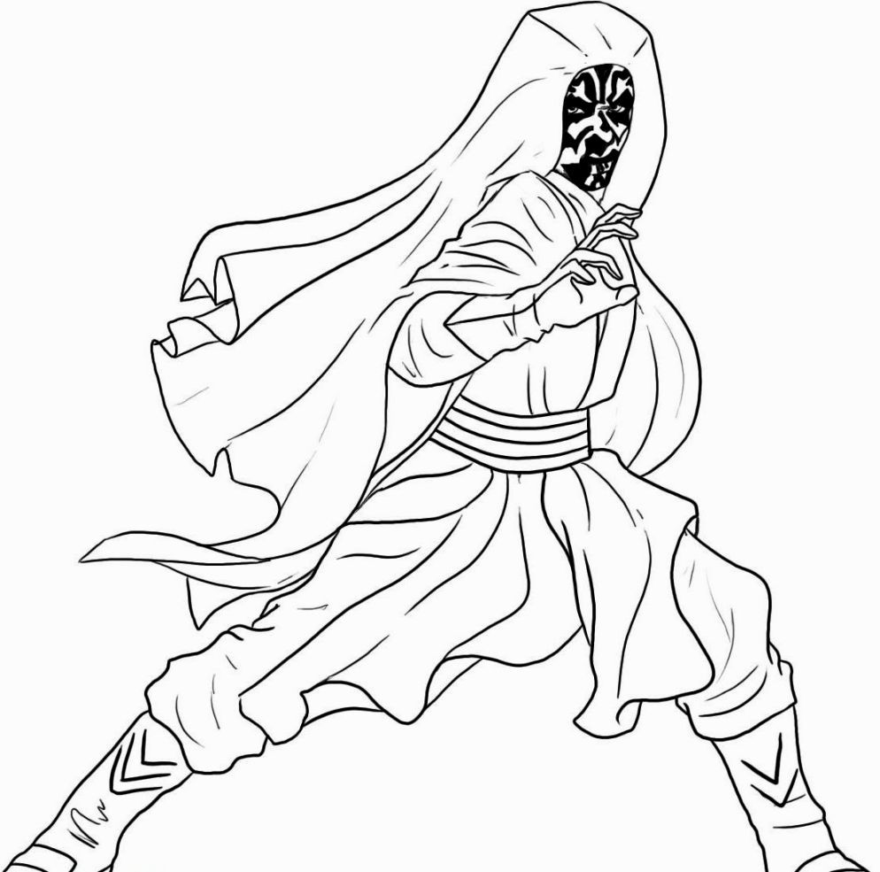 Darth Maul Coloring Pages Halaman Mewarnai Star Wars Darth Maul