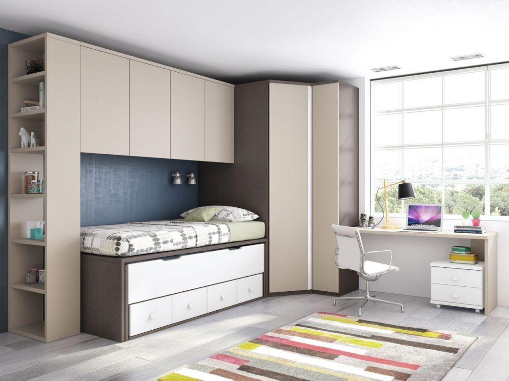 habitaciones juveniles en gris y rosa modernas con dos camas ...
