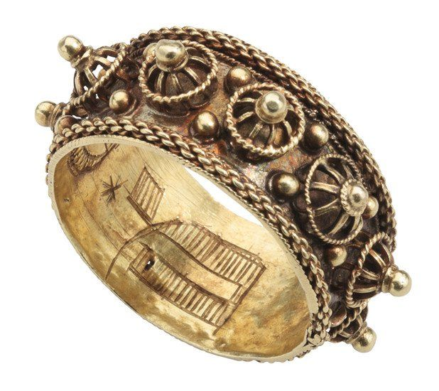JEWISH MARRIAGE RING Central or Eastern Europe, 18th century