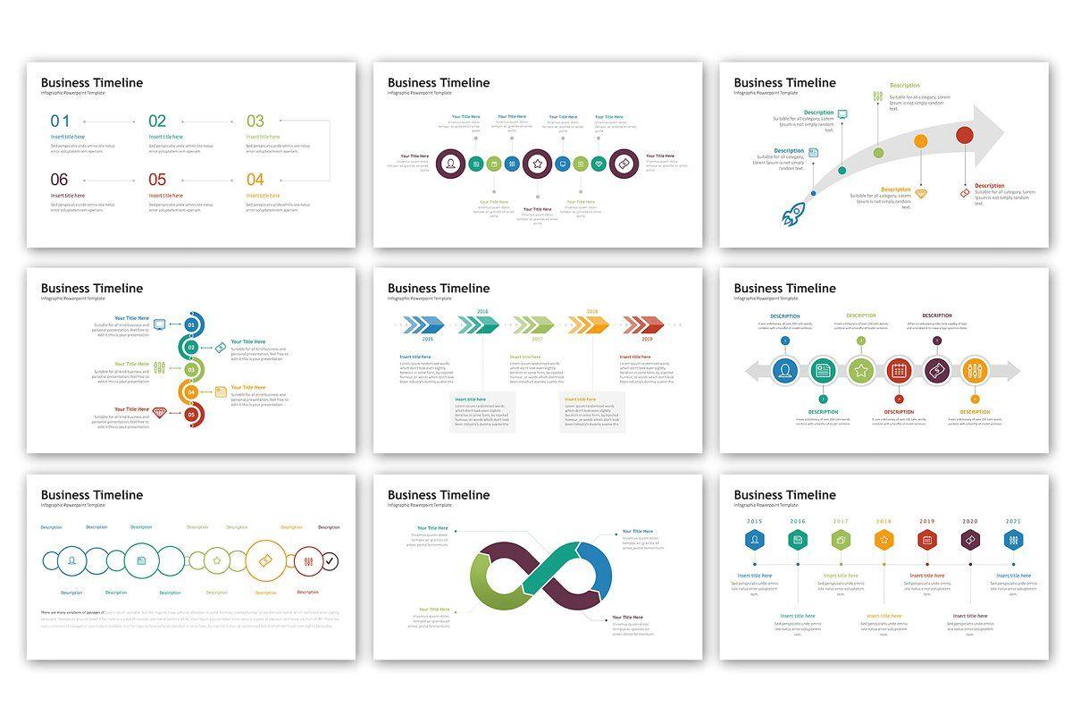 timeline presentation infographic