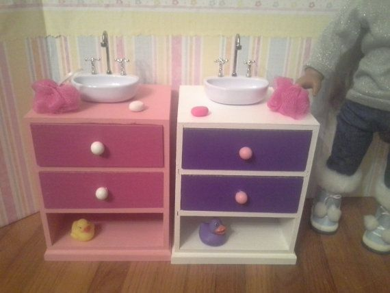 American Girl Bathroom Sink Vanity Sink With By Fuzzybuttfarm
