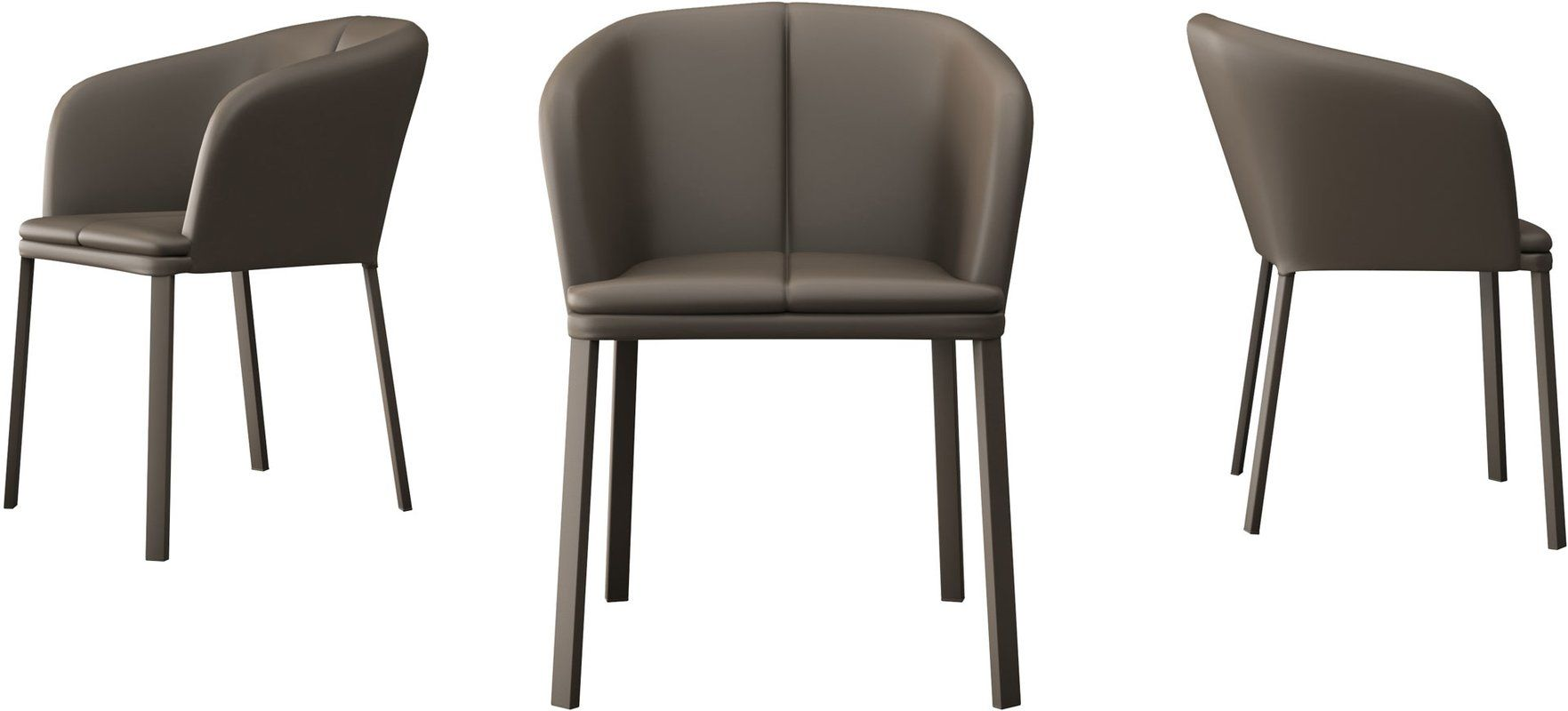 Como Genuine Leather Upholstered Dining Chair Dining Chairs
