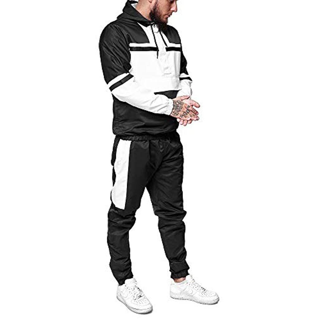 Herren 2 piece set Jogging Anzug Trainingsanzug Sweatshirt Sportanzug Polyanzug
