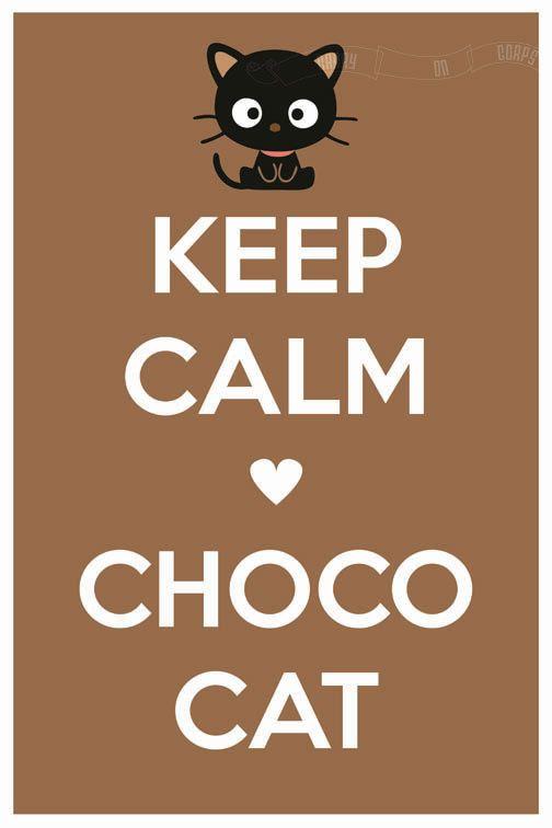 Keep Calm -heart- Chococat (Sanrio) 12 x 18 Keep Calm and Carry On Parody Poster