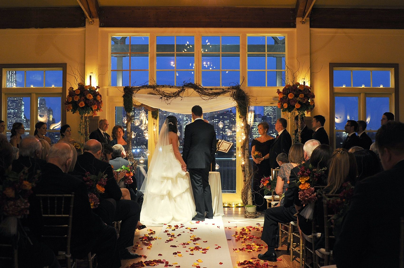 BEAUTIFUL evening ceremony in the Grand Ballroom at Liberty House! Check out Mikkel Paige's blog for more highlights of this couple's special day.