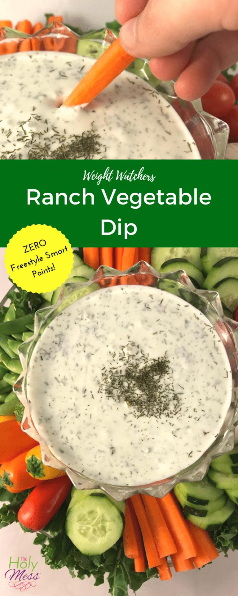 #vegetable #watchers #fitness #healthy #recipe #weight #ranch #diet #dipWeight Watchers Ranch Vegeta...