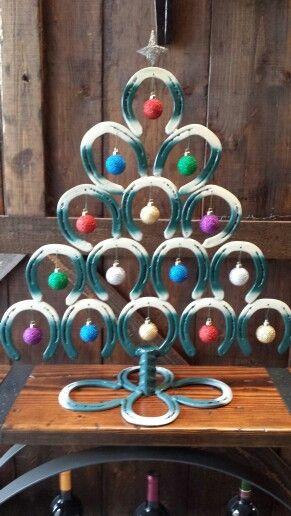 Horse Shoe Christmas Tree Via Etsy Horseshoe Christmas Tree